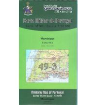 Wanderkarten Portugal Carta Militar de Portugal 49-3, Monchique (Algarve) 1:50.000 Instituto Geografico de Exercito