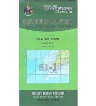 Wanderkarten Portugal Carta Militar de Portugal 51-1, Vila do Bispo (Algarve) 1:50.000 Instituto Geografico de Exercito