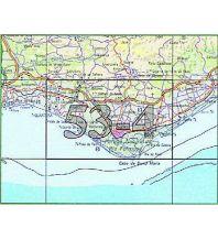 Wanderkarten Portugal Carta Militar de Portugal 53-4, Faro (Algarve) 1:50.000 Instituto Geografico de Exercito