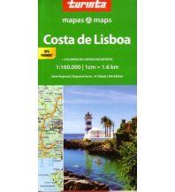 Straßenkarten Portugal Turinta Portugal Regional Map 4 - Lisbon Coast 1:160.000 Turinta