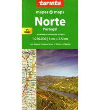 Straßenkarten Portugal Turinta Portugal Regional Map 1 - Portugal Norte 1:250.000 Turinta