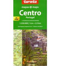Straßenkarten Portugal Turinta Portugal Regional Map 2 - Portugal Centro 1:250.000 Turinta