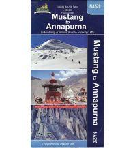 Wanderkarten Himalaya Himalayan Map House Trekking Map 500 - NA520, Mustang to Annapurna 1:165.000 Himalayan MapHouse