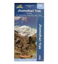 Wanderkarten Himalaya Trekking Map 500 BT501 Bhutan, Jhomolhari Trek 1:200.000 Himalayan MapHouse