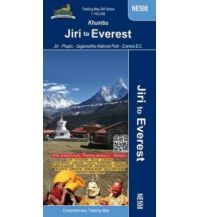 Wanderkarten Himalaya Himalayan Map House Trekking Map NE508, Khumbu: Jiri to Everest 1:50.000 Himalayan MapHouse