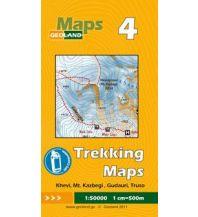 Wanderkarten Georgien Geoland Trekking Map 4 Georgien - Khevi, Kazbegi / Kasbek, Gudauri, Truso 1:50.000 Geoland