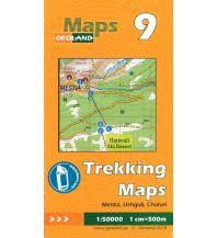 Wanderkarten Georgien Geoland Trekking Map 9 Georgien - Mestia, Ushguli, Choluri 1:50.000 Geoland
