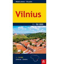 Stadtpläne Jana Seta City Map - Vilnius 1:10.000/ 1:50.000 Jana seta Map Shop Ltd.