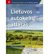 Reise- und Straßenatlanten Jana Seta Road Atlas - Lithuania Litauen 1:200.000 Jana seta Map Shop Ltd.