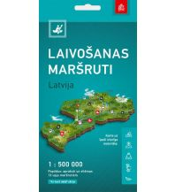 Kanusport Water Routes Tourism Map Latvija/Lettland 1:100.000 / 1:150.000 / 1:500.000 Jana seta Map Shop Ltd.