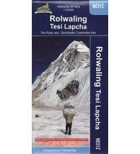 Wanderkarten Himalayan Map House Trekking Map 500 Nepal - NE512 - Rolwaling: Tesi Lapcha 1:125.000 Himalayan MapHouse