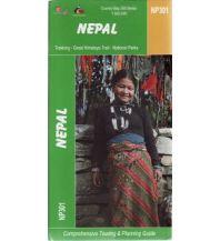 Wanderkarten Himalaya Himalayan Map House Trekking Map 300 Nepal - NP301 - Nepal (Great Himalaya Trail) 1:500.000 Himalayan MapHouse