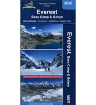 Wanderkarten Himalaya HMH Trekking Map 500 Series NE517, Everest: Base Camp & & Gokyo 1:50.000 Himalayan MapHouse