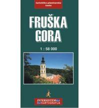 Intersistem Kartografija Wanderkarte Serbien - Fruska Gora 1:58.000 Intersistem Kartografija