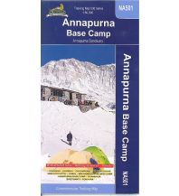 Wanderkarten Himalaya Himalayan Map House Trekking Map 500 Nepal - NA-501 - Annapurna Base Camp 1:50.000 Himalayan MapHouse