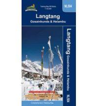 Wanderkarten Himalaya Himalayan Map House Trekking Map 500 Nepal - NL504, Langtang, Gosainkund & Helambu 1:125.000 Himalayan MapHouse