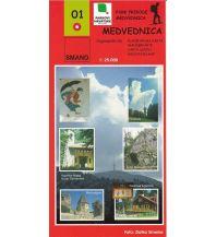 Wanderkarten Kroatien Smand 01 Kroatien - Medvednica 1:25.000 Smand d.o.o.