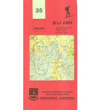 Wanderkarten Kroatien Smand 35 Kroatien - Dilj Gora 1:30.000 Smand d.o.o.