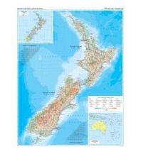 Poster und Wandkarten Gizi Map Wall Map - New Zealand Geographical 1:1.700.000 Gizi Map