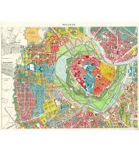Nachdrucke historischer Karten Wien mit Vorstädten farblich dargestellt - Reprint 1850 Freytag-Berndt und ARTARIA