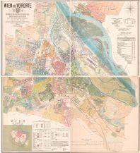 Nachdrucke historischer Karten Wien und Vororte (4 Blätter) - Reprint 1874 Freytag-Berndt und ARTARIA