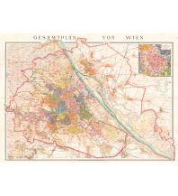 Nachdrucke historischer Karten Wien Gesamtplan - Reprint 1915 Freytag-Berndt und ARTARIA