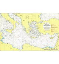 Seekarten Türkei und Naher Osten Kroatische Seekarte 109 / INT302 – Sredozemno more, istocni dio / Östliches Mittelmeer 1:2.500.000 Hrvatski Hidrografski Institut Repubika Hrvatska