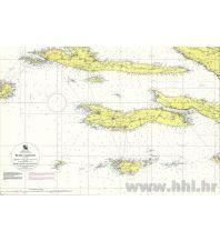 Seekarten Kroatien und Adria Kroatische Seekarte 100-25 - Hvar - Lastovo 1:100.000 Hrvatski Hidrografski Institut Repubika Hrvatska