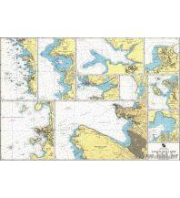Seekarten Kroatien und Adria Kroatische Seekarte 11 - Zapadna Obla Istre - Istrien 1:3.500 - 1:25.000 Hrvatski Hidrografski Institut Repubika Hrvatska