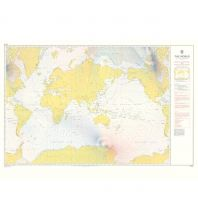 Seekarten British Admiralty Seekarte 5374 - The World - Magnetic Variation 2015 1:50.000.000 The UK Hydrographic Office