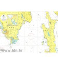 Seekarten Kroatien und Adria Kroatische Seekarte 50-3 - Pula - Cres 1:55.000 Hrvatski Hidrografski Institut Repubika Hrvatska