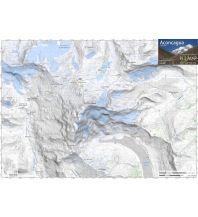 Wanderkarten Südamerika Pixmap Wanderkarte Aconcagua 1:100.000/1:25.000 Cordee Publishing