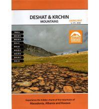 Wanderkarten Nordmazedonien MAIML Wanderkarte Deshat & Krchin Mountains 1:25.000 Macedonian Association of International Mountain Leaders