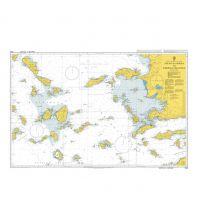 Seekarten British Admiralty Seekarte 1095 - Steno Kafirea to Rhodes Channel 1:300.000 The UK Hydrographic Office