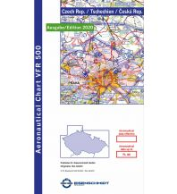 Flugkarten DFS Visual 500 Czech Republic - Tschechien 1:500.000 - Edition 2020 DFS Deutsche Flugsicherung