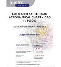 Flugkarten Luftfahrtkarte (2252-A) 2020 - ICAO Österreich 1:500.000 Gefaltet Austro Controll Verlagsprodukte