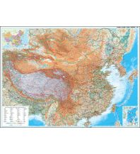 Poster und Wandkarten Gizi Map Wall Map Wandkarte - China Geographical 1:4.750.000 Gizi Map
