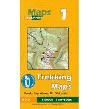 Wanderkarten Georgien Geoland Trekking Map 1 Georgien - Omalo, Pass Abano, Mt. Diklosmeta 1:50.000 Geoland