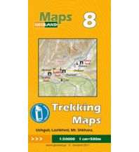 Wanderkarten Georgien Geoland Trekking Map 8 Georgien - Ushguli, Lashkheti, Mt. Shkhara 1:50.000 Geoland