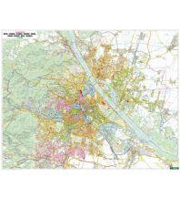 Wien Wandkarte-Markiertafel: Wien 1:20.000 politisch Freytag-Berndt u. Artaria KG