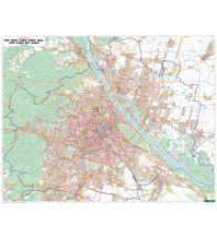 Wien Wandkarte-Markiertafel: Wien 1:20.000 Freytag-Berndt u. Artaria KG