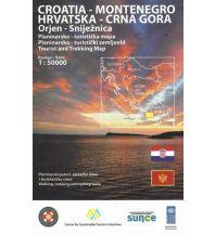 Wanderkarten Serbien & Montenegro HGSS Tourist and Trekking Map Orjen, Sniježnica 1:50.000 Hrvatska Gorska Sluzba Spasavanja